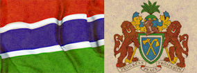 Flag and Emblem Gambia